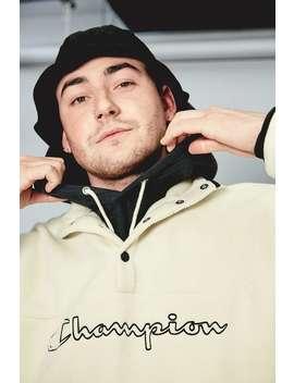 Champion Uo Exclusive Ecru Polar Fleece Mock Neck Sweatshirt by Champion