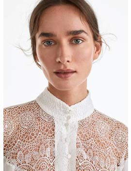 Camisa Guipura by Uterqüe