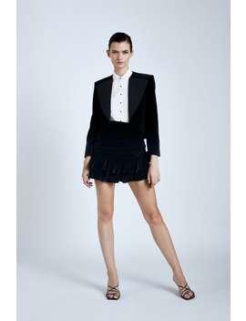 Contrasting Lapel Velvet Jacket by Zara