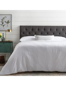 Emmie Adjustable Charcoal Queen Upholstered Headboard by Brookside