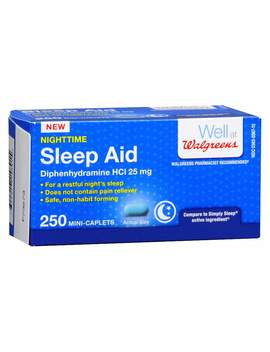 Walgreens Nighttime Sleep Aid Mini Caplets250.0ea by Walgreens