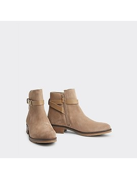Flat Suede Boot by Tommy Hilfiger