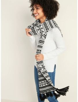 Fair Isle Sweater Knit Scarf For Women by Old Navy