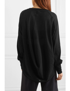 Faille Trimmed Cotton Jersey Top by Ann Demeulemeester