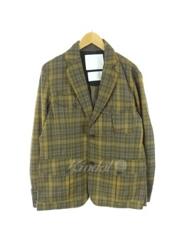 White Mountaineering Wool Check Jacket 13 Aw Beige X Khaki Size: 2 (ホワイトマウンテニアリング) by Rakuten Global Market