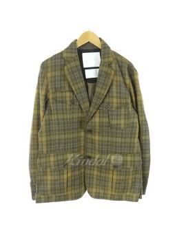 White Mountaineering Wool Check Jacket 13 Aw Beige X Khaki Size: 2 (ホワイトマウンテニアリング) by Rakuten Global Market