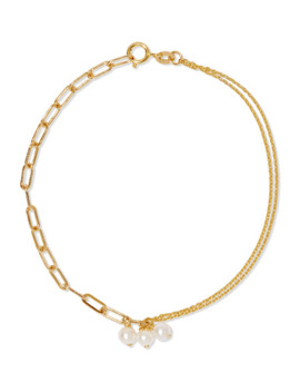14 Karat Gold Pearl Bracelet by Poppy Finch