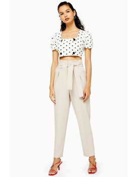 Tall Stitch Belt Peg Trousers by Topshop