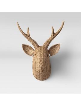 seagrass-deer-head-wall-decor-natural---opalhouse by opalhouse
