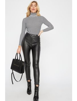 Seam Faux Leather Pant by Urban Planet