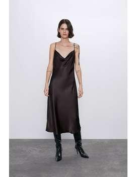 Fliessendes Kleid In Lingerie Optik by Zara
