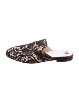 Princetown Lace & Leather Mules by Gucci