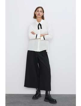 Tweed Bow Shirt by Zara