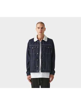 Shearling Collar Denim Jacket   Raw Blue by I Love Ugly