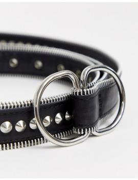 Asos Design – Doppelt Gewickelter Taillen  Und Hüftgürtel Mit Nieten Und Ösen In Schwarz by Asos