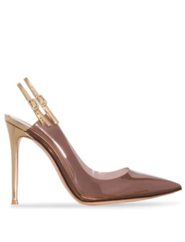 Double Slingback 105mm Pumps by Gianvito Rossi