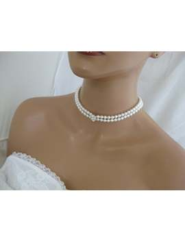 Bridal Pearl Choker Necklace Multi Strand Pearl Necklace Wedding Jewelry by Etsy