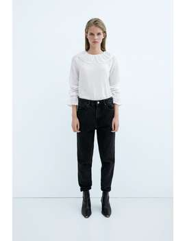 Contrast Dotted Mesh Shirt by Zara
