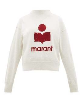 Moby Flocked Logo Cotton Blend Sweatshirt by Isabel Marant Étoile