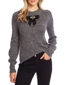 Bow Crewneck Sweater by Cece By Cynthia Steffe