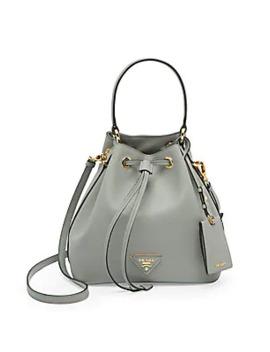 Saffiano Leather Bucket Bag by Prada