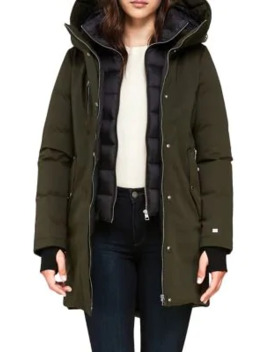 Belina Down Filled Cotton Blend Parka by Soia & Kyo