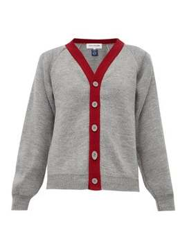 Contrast Trim Knitted Cardigan by Comme Des Garçons Girl