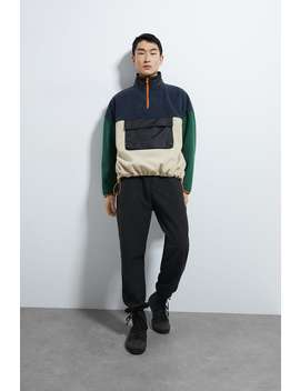 Colour Block Fleece Lined Sweatshirt by Zara