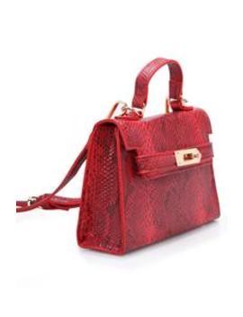 Brenda Mini Bag   Red Snake by Fashion Nova
