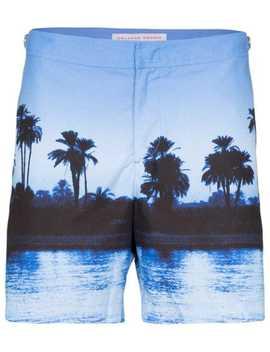 Palm Trees Photo Print Swim Shorts by Orlebar Brown