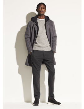 Hooded Wool Topcoat by Vince