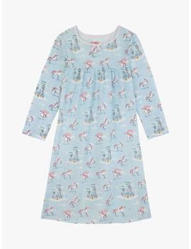Cath Kids Girls' Unicorns And Rainbows Nightdress, Blue by Cath Kidston
