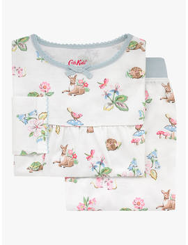 Cath Kids Girls' Woodland Animal Print Pyjamas, Ivory by Cath Kidston