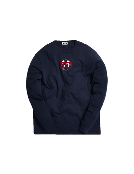 Kith One World L/S Tee Navy by Stock X