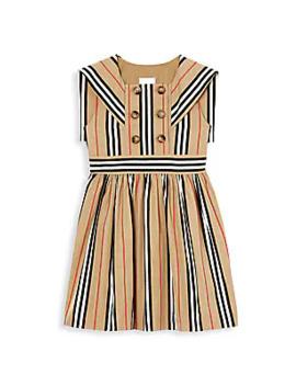 Little Girl's & Girl's Oralie Archive Stripe Dress by Burberry