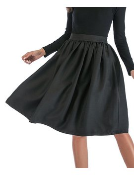 Black Pocket A Line Skirt   Women by Adele Berto