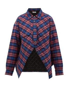 Swing Canadian Checked Cotton Flannel Shirt by Balenciaga