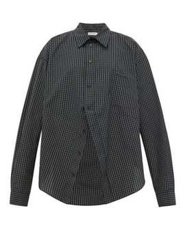 Swing Checked Cotton Poplin Shirt by Balenciaga