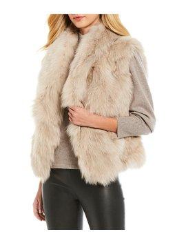 Luxury Collection Lydia Genuine Fox Fur Vest by Antonio Melani