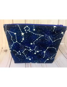 Constellation Makeup Bag,Celestial Zipper Pouch,Bag With Stars,Space Pencil Case,Astrology Gifts, by Etsy