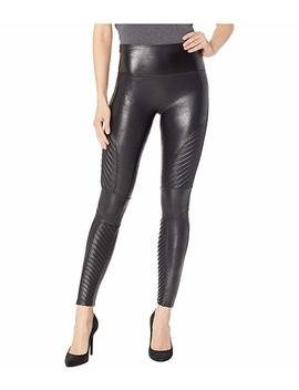 Faux Leather Leggings Moto Petite by Spanx