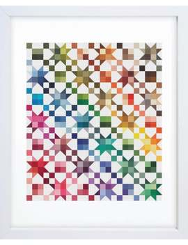 Rainbow Quilt Counted Cross Stitch Pattern by Etsy
