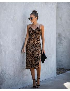 Kendra Velvet Burnout Leopard Midi Dress by Vici