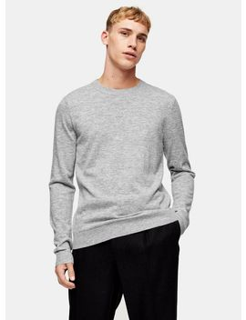 Premium Grey Jumper With Cashmere by Topman