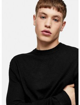 Premium Black Jumper With Cashmere by Topman