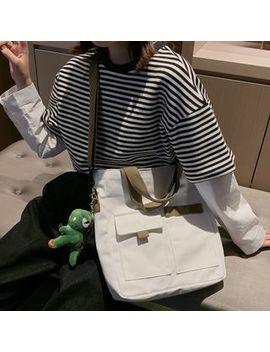 Beamie   Dinosaur Doll Canvas Crossbody Tote Bag by Beamie