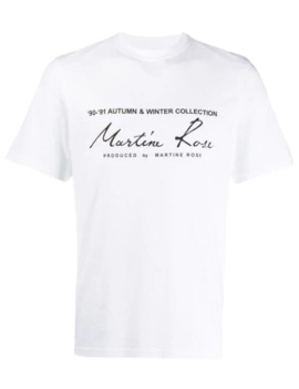 T Shirt Con Logo by Martine Rose
