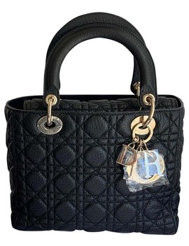 Lady Black Leather Cross Body Bag by Dior