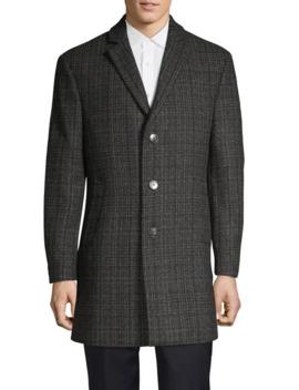 Single Breasted Tweed Overcoat by Calvin Klein
