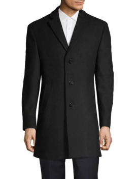 Single Breasted Overcoat by Calvin Klein